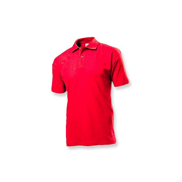 POLO MEN - pánská polokošile, 170 g/m2, vel. M, STEDMAN - červená