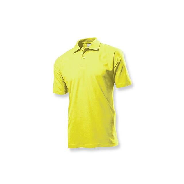 POLO MEN - pánská polokošile, 170 g/m2, vel. M, STEDMAN - žlutá