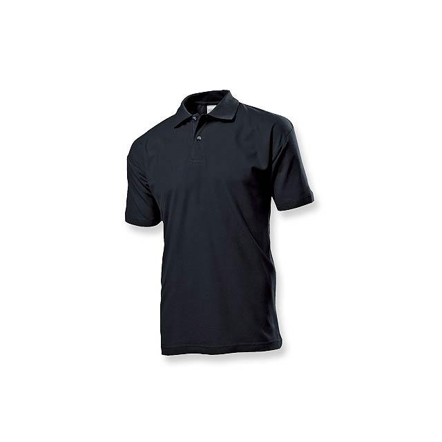POLO MEN - pánská polokošile, 170 g/m2, vel. L, STEDMAN - černá