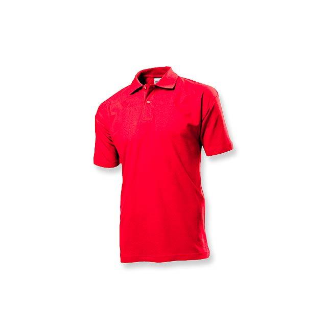 POLO MEN - pánská polokošile, 170 g/m2, vel. L, STEDMAN - červená