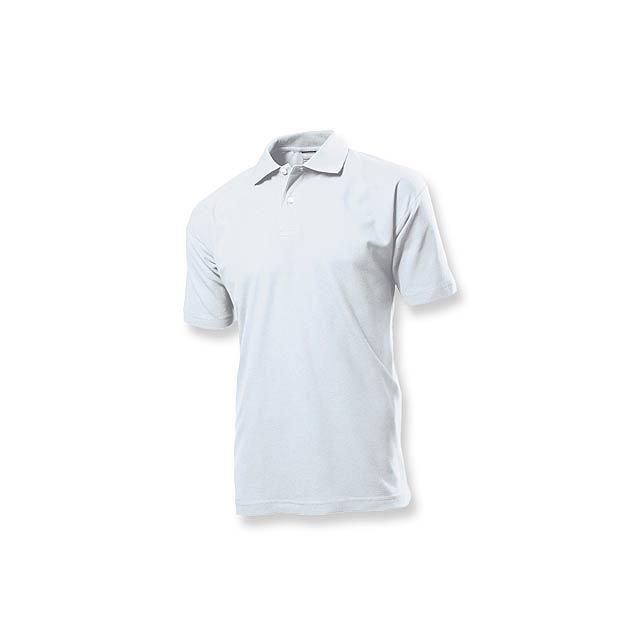 POLO MEN - pánská polokošile, 170 g/m2, vel. L, STEDMAN - bílá
