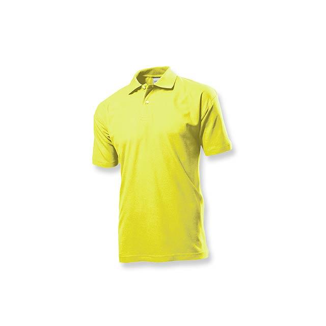 POLO MEN - pánská polokošile, 170 g/m2, vel. L, STEDMAN - žlutá