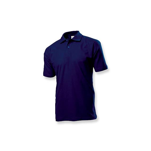 POLO MEN - pánská polokošile, 170 g/m2, vel. L, STEDMAN - modrá