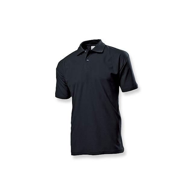 POLO MEN - pánská polokošile, 170 g/m2, vel. XL, STEDMAN - černá