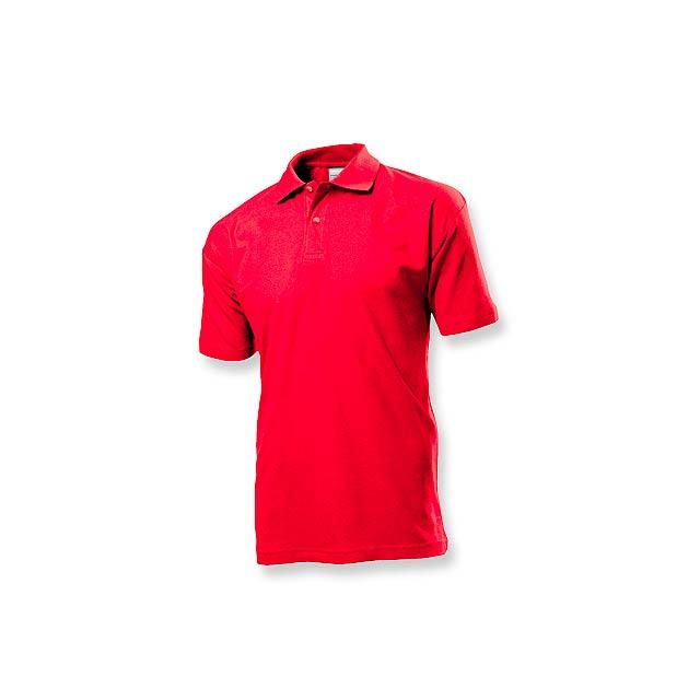 POLO MEN - pánská polokošile, 170 g/m2, vel. XL, STEDMAN - červená
