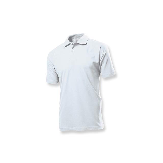 POLO MEN - pánská polokošile, 170 g/m2, vel. XL, STEDMAN - bílá