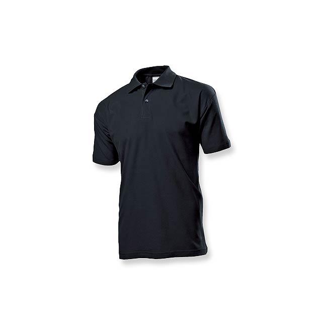 POLO MEN - pánská polokošile, 170 g/m2, vel. XXL, STEDMAN - černá