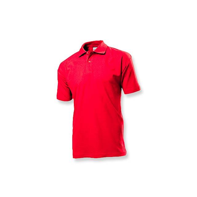 POLO MEN - pánská polokošile, 170 g/m2, vel. XXL, STEDMAN - červená