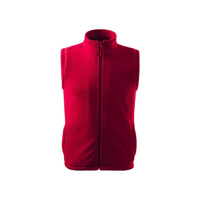 NEXT - unisex fleecová vesta, 280 g/m2, vel. S, ADLER - červená