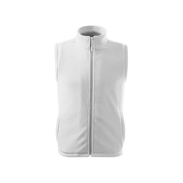 unisex fleecová vesta, 280 g/m2, vel. S, ADLER - bílá - foto