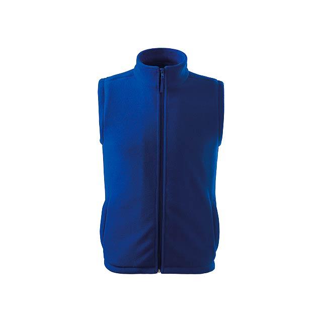 NEXT - unisex fleecová vesta, 280 g/m2, vel. S, ADLER - modrá