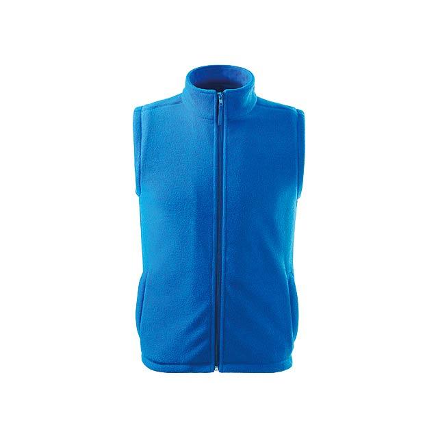 NEXT - unisex fleecová vesta, 280 g/m2, vel. M, ADLER - modrá