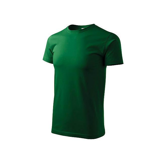 BASIC T-160 - Unisex tričko s krátkým rukávem, 100 % bavlna, 160 g/m2.      - zelená