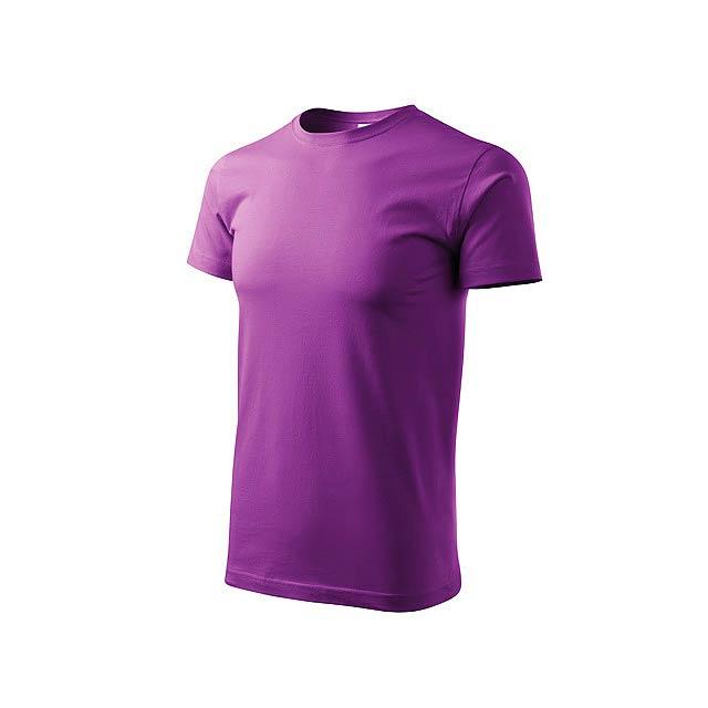 BASIC T-160 - Unisex tričko s krátkým rukávem, 100 % bavlna, 160 g/m2.      - fialová