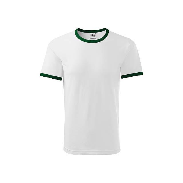 INFINITY T-180 unisex tričko 180 g/m2, vel. S, ADLER, Bílá - bílá
