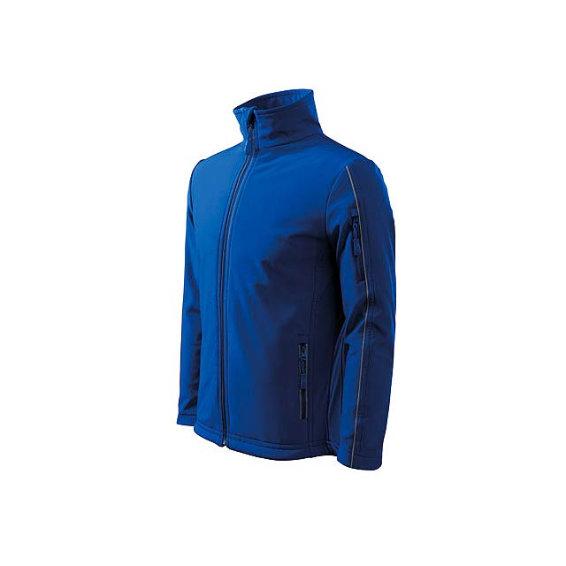 SOFTSHELL JACKET MEN - pánská bunda 300 g/m2, vel. L, ADLER - modrá
