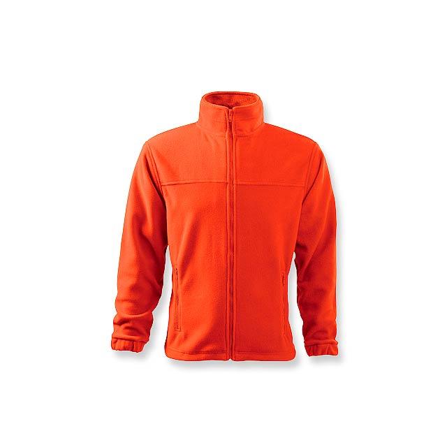 OLIVER pánská fleecová bunda, 280 g/m2, vel. L, ADLER, Oranžová - oranžová