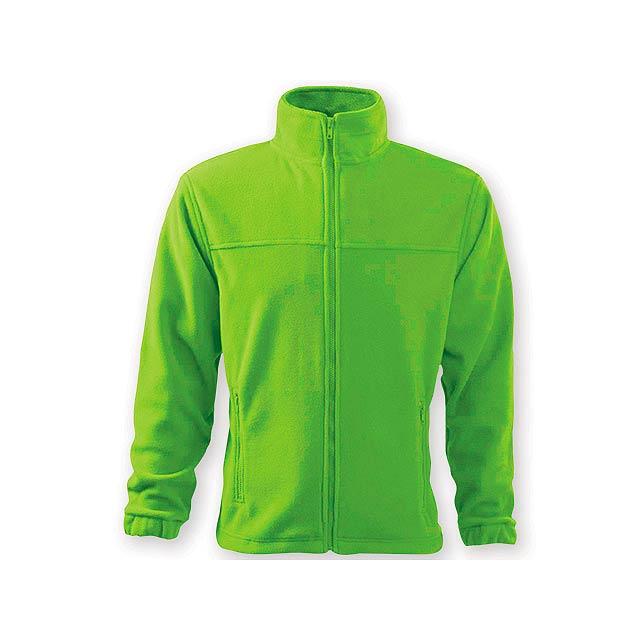 OLIVER pánská fleecová bunda, 280 g/m2, vel. XXL, ADLER, Limetkově zelená - zelená
