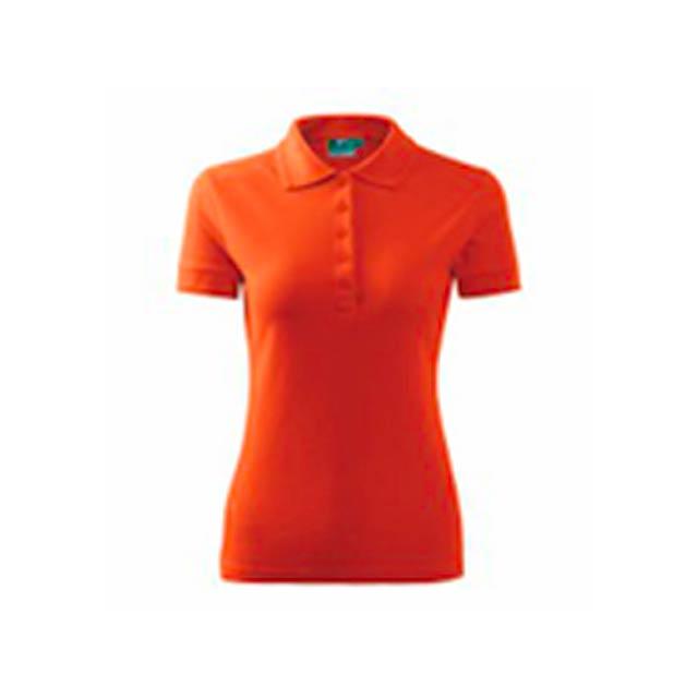 LADIES POLO PIQUE dámská polokošile 200 g/m2, vel. M, ADLER, Oranžová - oranžová