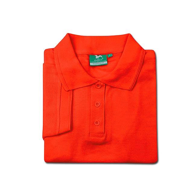 LADIES POLO PIQUE dámská polokošile 200 g/m2, vel. L, ADLER, Oranžová - oranžová