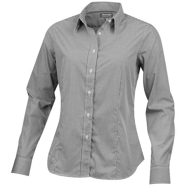 Dámská košile Net s dlouhým rukávem - šedá