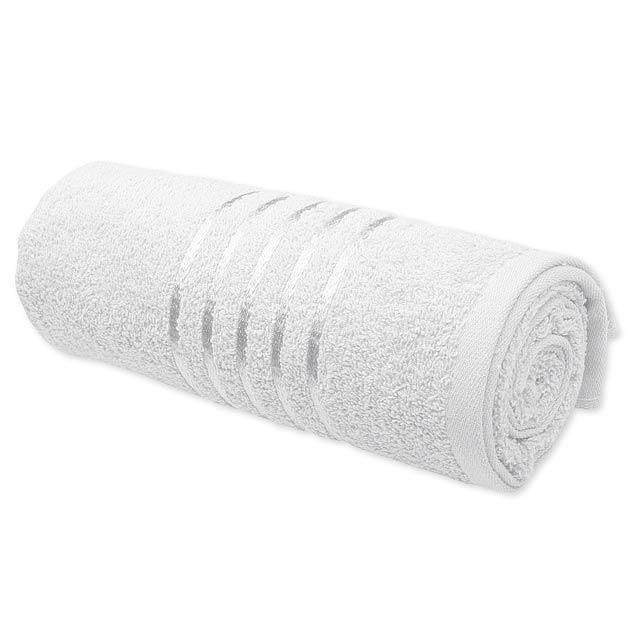 TROPIC I - ručník, 400 g/m2, SANTINI - bílá