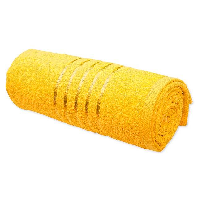 TROPIC I - Bavlněný froté ručník, 400 g/m2.           - žlutá
