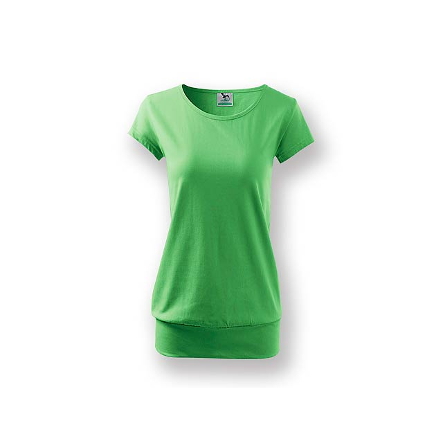 CITY - Dámské tričko s velmi krátkým rukávem,           - zelená