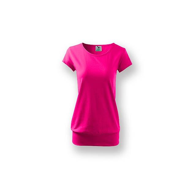 CITY - Dámské tričko s velmi krátkým rukávem,           - růžová