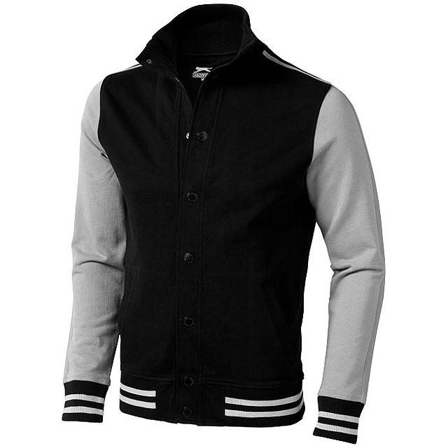 Mikinová bunda Varsity - černá