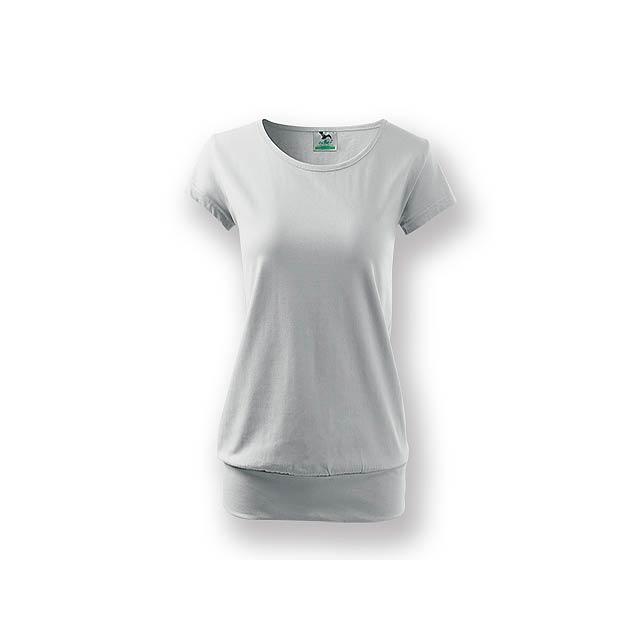 CITY - Dámské tričko s velmi krátkým rukávem,           - bílá