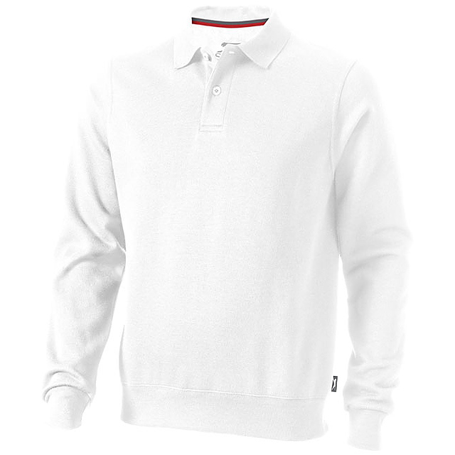 Košilová mikina Referee - bílá