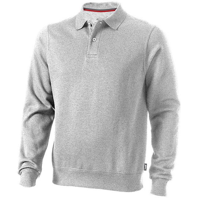 Košilová mikina Referee - šedá