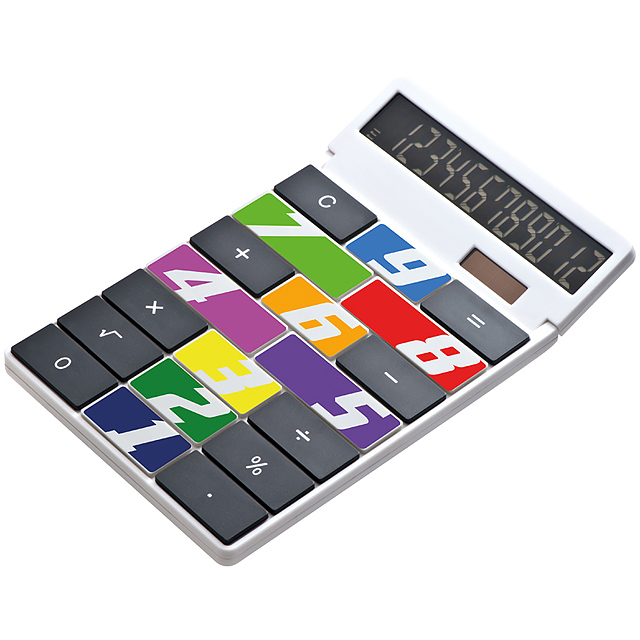 Kalkulačka s vlastným dizajnom - biela