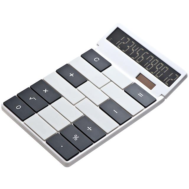 Kalkulačka svlastným dizajnom - biela