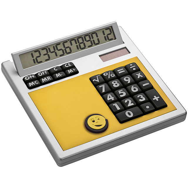 Own design calculator with insert - yellow