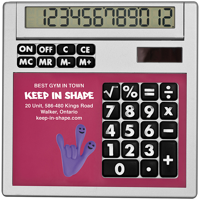 Own design calculator with insert - pink