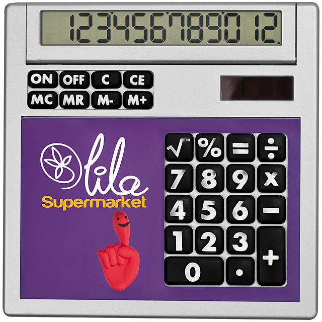 Kalkulačka svložkami - fialová