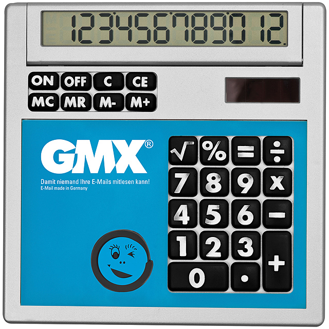Own design calculator with insert - baby blue
