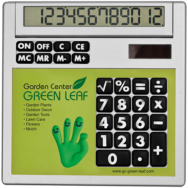 Own design calculator with insert - lime