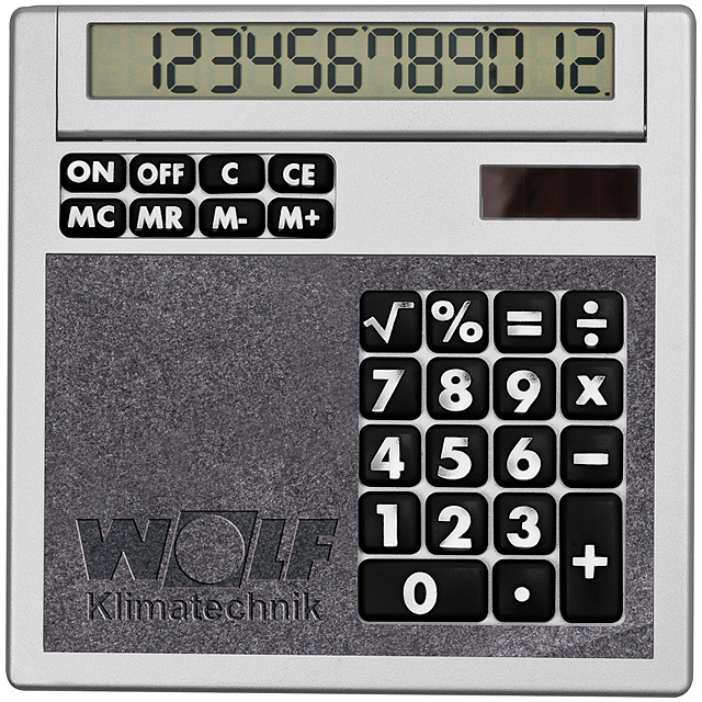 Own design calculator with insert - black