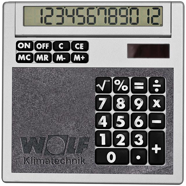 Kalkulačka svložkami - čierna