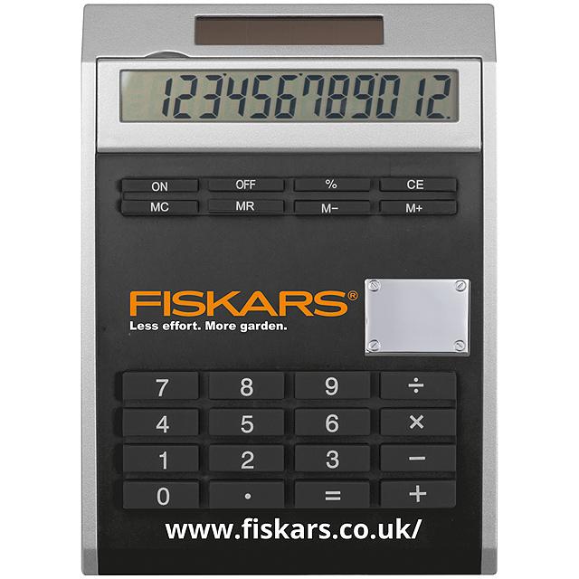 Malá kalkulačka svložkami - čierna