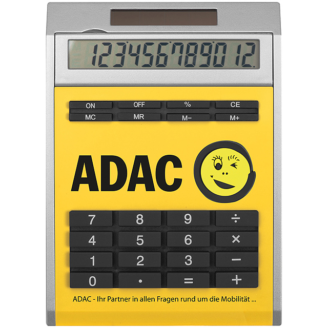 Own design calculator with insert, small - yellow