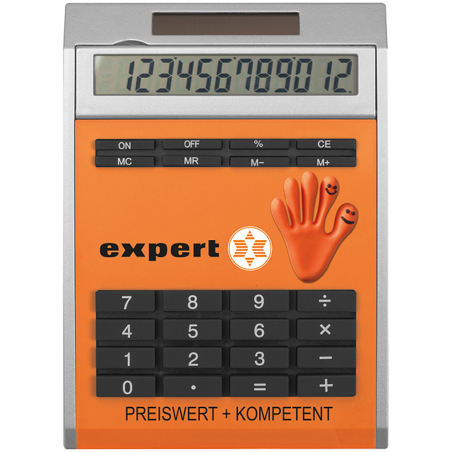 Own design calculator with insert, small - orange