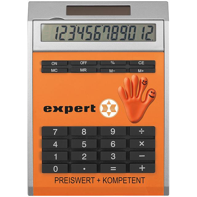 Malá kalkulačka svložkami - oranžová