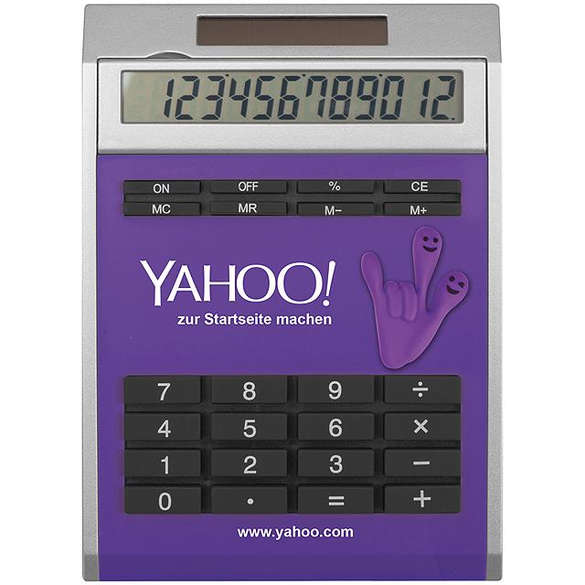 Malá kalkulačka svložkami - fialová