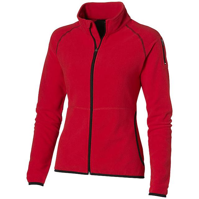 Dámská bunda Drop shot z materiálu mikro fleece - červená
