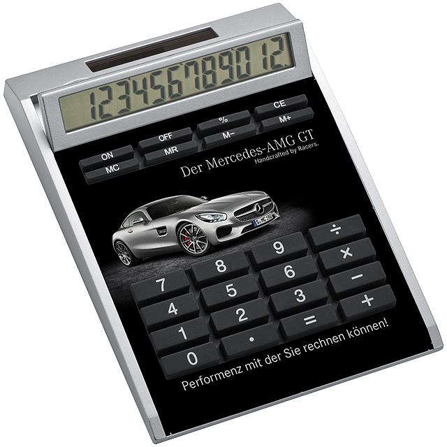 Kalkulačka s bielou vložkou - biela