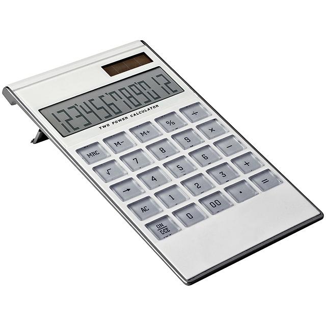 12-digit dual-power calculator - white